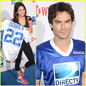 Ian Somerhalder & Nina Dobrev: Celebrity Beach Bowl Party Couple!