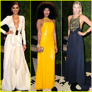 Irina Shayk & Solange Knowles - Vanity Fair Oscars Party 2013