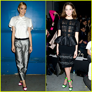 Jaime King & Analeigh Tipton: Neon Shoes at Prabal Gurung!