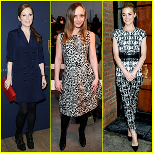 Julianne Moore & Jaime King: Fashion Shows in New York!