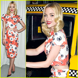 Jaime King: Taxicab Cutie at Kate Spade NYFW Celebration!