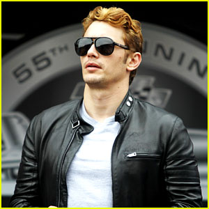 James Franco Goes Blonde at Daytona 500 Fire Up!