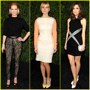 January Jones & Rose Byrne - Chanel Pre-Oscars Dinner 2013