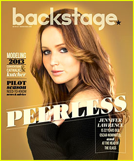 Jennifer Lawrence Covers 'Backstage' Mag February 2013