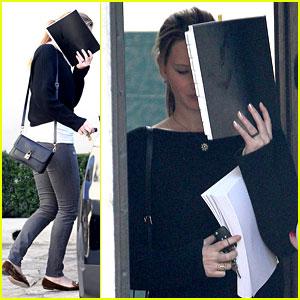 Jennifer Lawrence Hides Behind Her Script