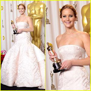 Jennifer Lawrence: Oscars Press Room Photos 2013