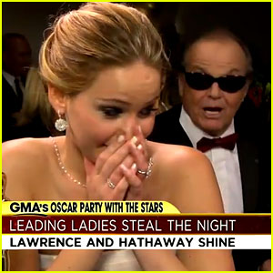 Jennifer Lawrence to Jack Nicholson: 'You're Being Really Rude'!