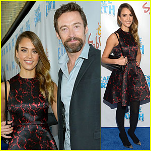 Jessica Alba & Hugh Jackman: 'Escape From Planet Earth' Los Angeles Premiere!