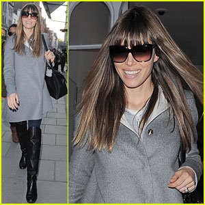 Jessica Biel Misses Pet Pooch Tina During London Fashion Week!