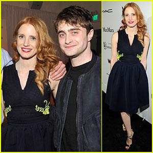 Jessica Chastain & Daniel Radcliffe: Women in Film Pre-Oscar Cocktail Party