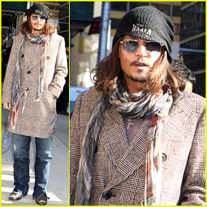 Johnny Depp: 'Letterman' Appearance as Musical Guest!