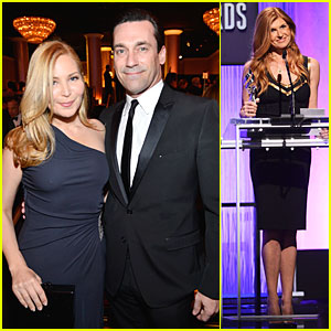 Jon Hamm & Jennifer Westfeldt: Costume Designers Guild Awards Couple!