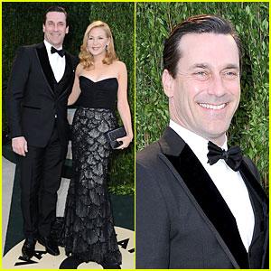 Jon Hamm & Jennifer Westfeldt - Vanity Fair Oscars Party 2013