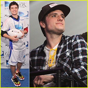 Josh Hutcherson: Celebrity Beach Bowl Attendee!