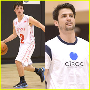 Josh Hutcherson & James Lafferty: Ciroc Court Basketball Game!