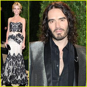 Julie Bowen & Russell Brand - Vanity Fair Oscars Party 2013