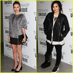 Kate Bosworth & Demi Lovato: Topshop Unique Fashion Show