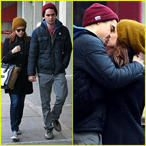 Kate Mara & Max Minghella: Valentine's Day Kiss!