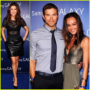 Kate Walsh & Kellan Lutz: Samsung Super Bowl Party!