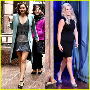 Katharine McPhee Films 'Smash', Megan Hilty Does 'Fallon'