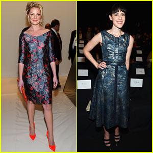 Katherine Heigl & Jena Malone: J. Mendel Fashion Show!