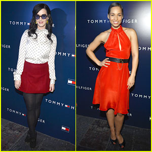 Katy Perry & Alicia Keys: Tommy Hilfiger Store Opening!