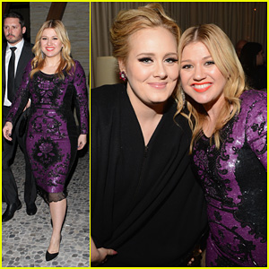 Kelly Clarkson & Adele: Sony Music Grammy After Party!