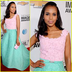 Kerry Washington - NAACP Image Awards 2013 Red Carpet