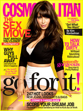 Kim Kardashian Covers 'Cosmopolitan' April 2013
