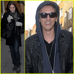 Lily Collins & Jamie Campbell Bower: London Lovebirds!