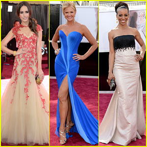 Louise Roe & Nancy O'Dell - Oscars 2013 Red Carpet