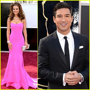 Maria Menounos & Mario Lopez - Oscars 2013 Red Carpet