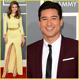 Mario Lopez & Maria Menounos - Grammys 2013 Red Carpet