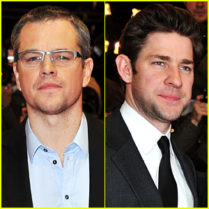 Matt Damon & John Kraskinski: 'Promised Land' in Berlin!
