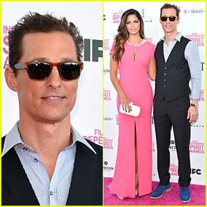 Matthew McConaughey & Camila Alves - Independent Spirit Awards 2013