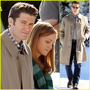 Matthew Morrison: Winter Wonderland on 'Glee' Set!