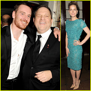Michael Fassbender & Amy Adams: Post-BAFTAs Party!
