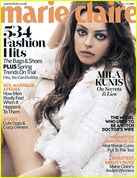 Mila Kunis Covers 'Marie Claire UK' April