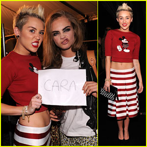 Miley Cyrus & Cara Delevingne: Funny Faces for Marc Jacobs!