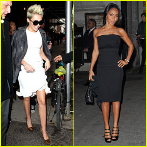 Miley Cyrus & Jada Pinkett Smith: Fashion Fun in NYC!