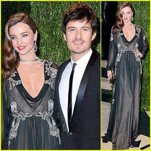 Miranda Kerr & Orlando Bloom - Vanity Fair Oscars Party 2013