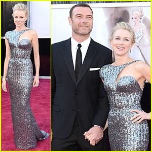 Naomi Watts & Liev Schreiber - Oscars 2013 Red Carpet