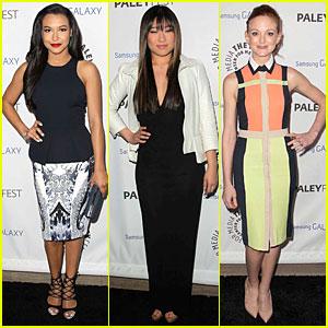 Naya Rivera & Jenna Ushkowitz: Inaugural PaleyFest Icon Award with 'Glee'!