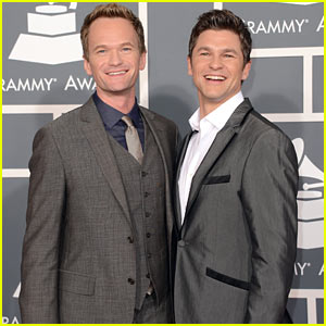 Neil Patrick Harris - Grammys 2013 Red Carpet with David Burtka