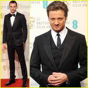 Nicholas Hoult & Jeremy Renner - BAFTAs 2013 Red Carpet