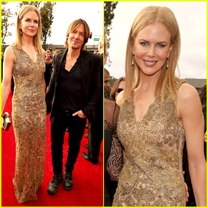 Nicole Kidman & Keith Urban - Grammys 2013 Red Carpet