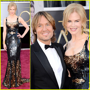 Nicole Kidman - Oscars 2013 Red Carpet with Keith Urban