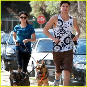 Nikki Reed: Dog Run With Brother Nathan!