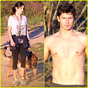 Nikki Reed: Super Bowl Hiking with Shirtless Brother Nathan!