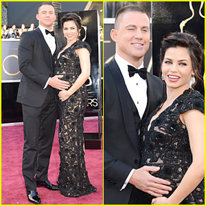 Channing Tatum & Jenna Dewan - Oscars 2013 Red Carpet